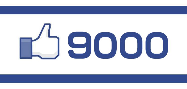 東大阪バーチャルシティのFacebookページがいいね9000達成