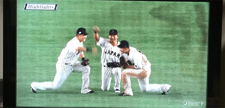 WBC日本代表外野陣の侍ポーズ
