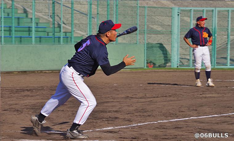 現チャンピオンの望月選手。安定した守備で吉野選手をサポート!