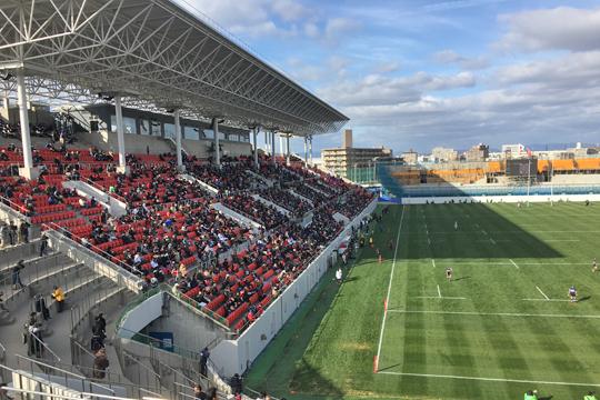 初生ラグビー観戦 in 東大阪市花園ラグビー場