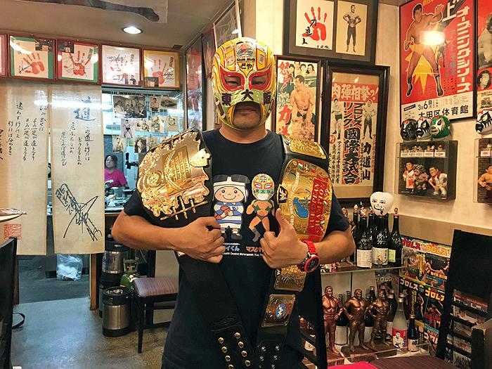 マスクド東大阪 二冠チャンピオンに!?