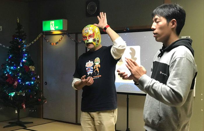 内田くんと一緒にビンゴの司会