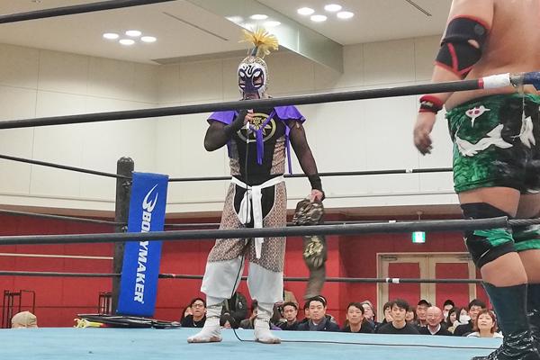 東北Jr.ヘビー級チャンピオンの剣舞選手