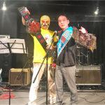 布施ミュージックフェアで野崎プロレスの告知してきました